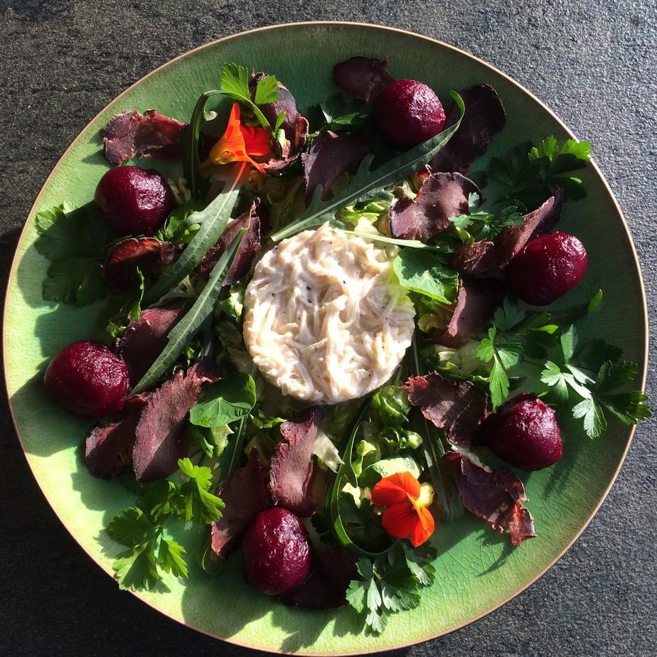 Venison and celeriac remoulade recipe