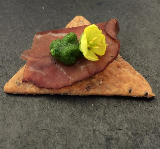 Beef bresaola canape