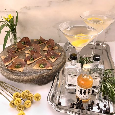 Sussex gin aperitivo and canapes