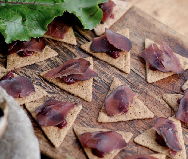 Venison bresaola canapes