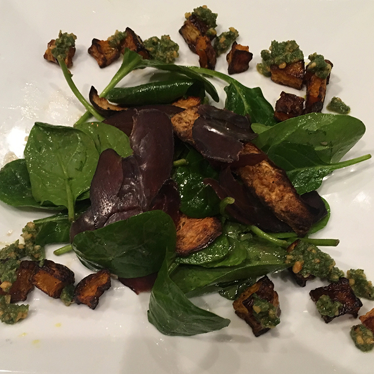 Immune boosting venison bresaola salad